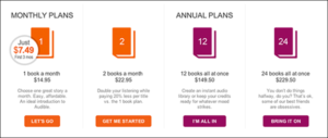 audible membership plans
