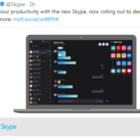new skype client