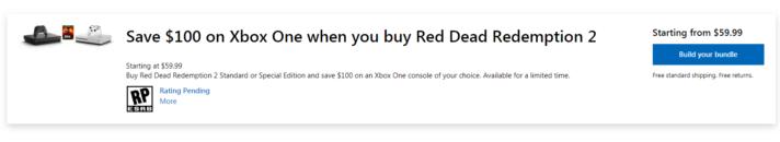 Save 100 dollars on xbox
